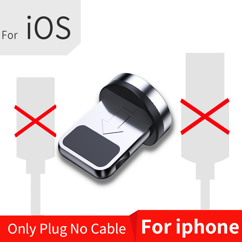 FPU 3 м Магнитный Micro USB кабель для iPhone samsung Android мобильный телефон Быстрая зарядка usb type C кабель магнит зарядное устройство провод шнур - Цвет: Only For iPhone Plug