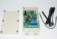 3G version outdoor 2 relays gsm relay sms call remote controller gsm gate opener switch home appliance gate motor opener