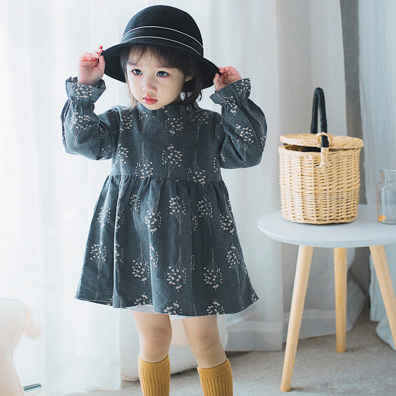 Girls Fashion Clothes: Baby Girl Dress 2018 Spring Fashion Children Clothing Long