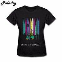 Vespa t shirt Dziewczyna Kobiety rainbow vespa motocykl Krótkie rękaw Kobiety Tshirts Na Sprzedaż 100% Bawełna T Shirt Maker kobiety