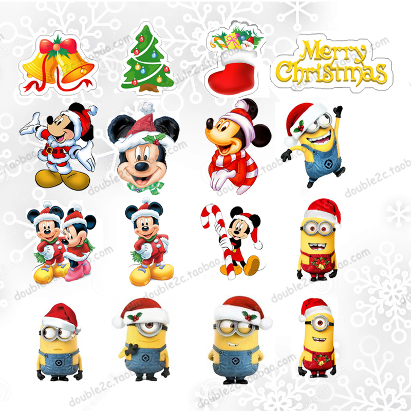 Christmas Cupcake Toppers.Us 5 17 30 Off 72pcs Lot Merry Christmas Cupcake Topper Cake Baking Toppers Christmas Mickey Minions Pendant Tree Party Supply Accessories In Cake