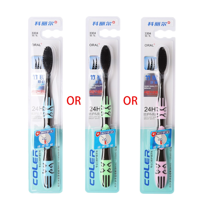 1 Stück Nano Bambuskohle Zahnbürste Oral Care Weiche Superfine Pinsel Für Erwachsene #35/9 Watt
