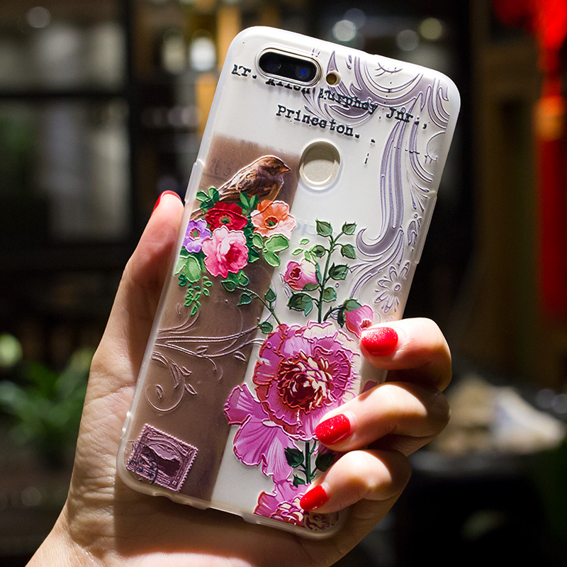 3D Relief Case For OPPO R9S R9 R11 R11S R15 Plus TPU Case Relief Flower Back Cover For OPPO A59/A59S/F1S A57/A39 Case