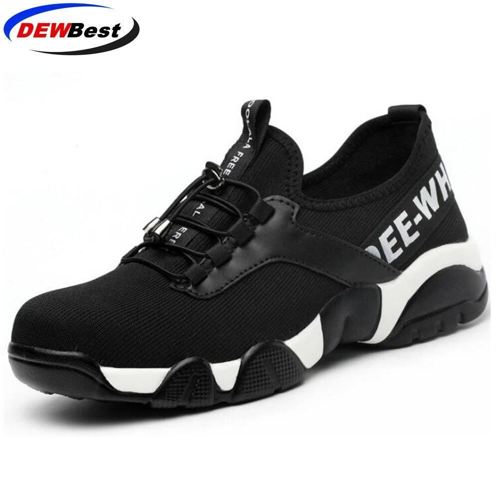 Рабочая обувь со стальным носком; легкая дышащая мужская защитная обувь; мужские кроссовки со светоотражающими вставками - Цвет: Kevlar sole 158