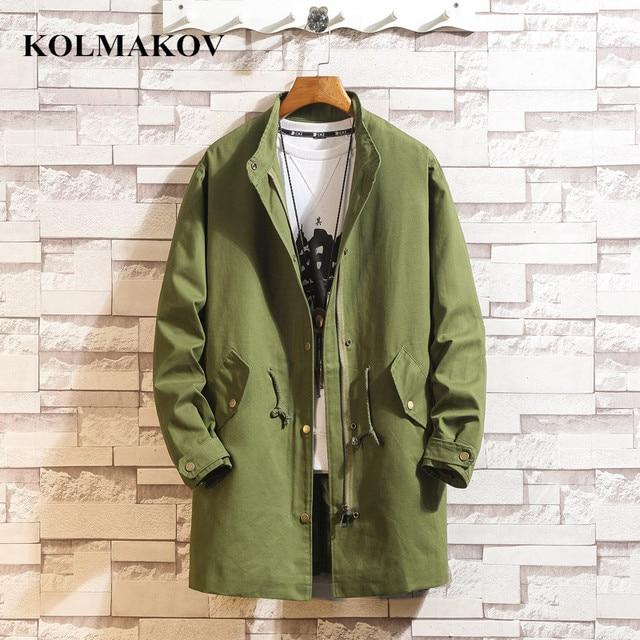 KOLMAKOV New Men's Clothing 2019 Mens Windbreakers Spring Mans Long Trench Coats Homme Casual Coat Men M-3XL Outerwear S-3XL