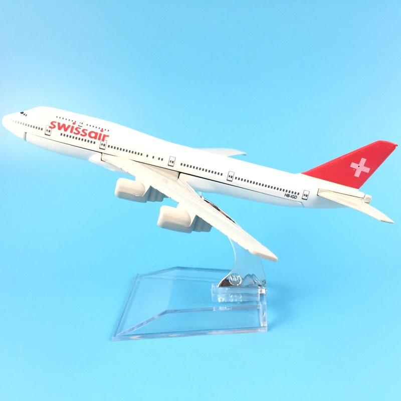 16cm Legierung Metall Schweizer Air Swissair Airlines Boeing 747 B747 200 Airways Flugzeug Modell Flugzeug Modell W Stehen Flugzeuge geschenk