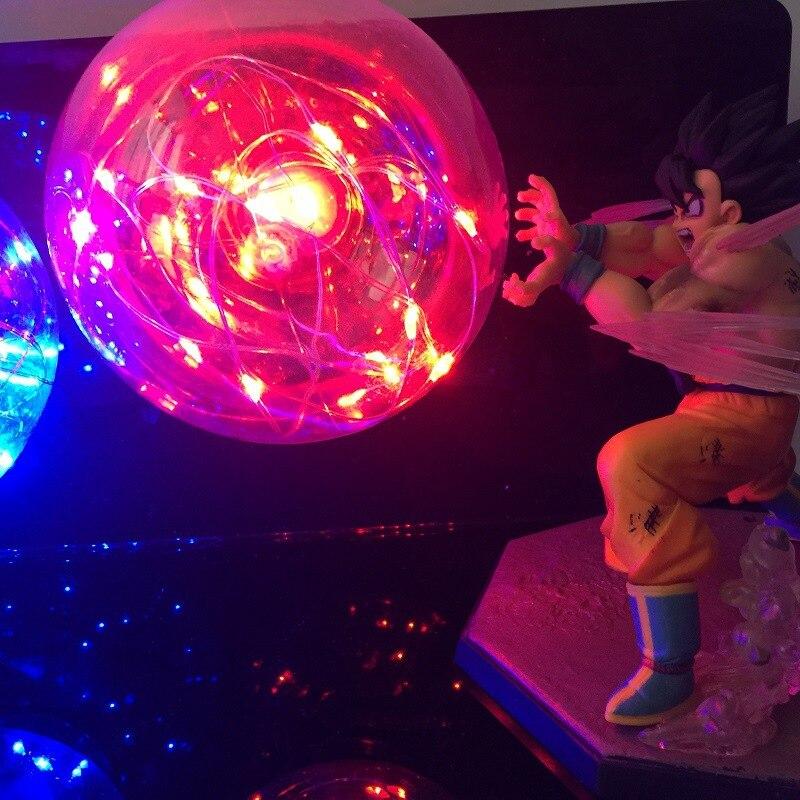 Аниме Dragon Ball Z фигурки, светодиодный Игрушка ночник Сон Гоку против Вегета, бои с эффектом бомбы, фигурка, Подарочные игрушки - 3