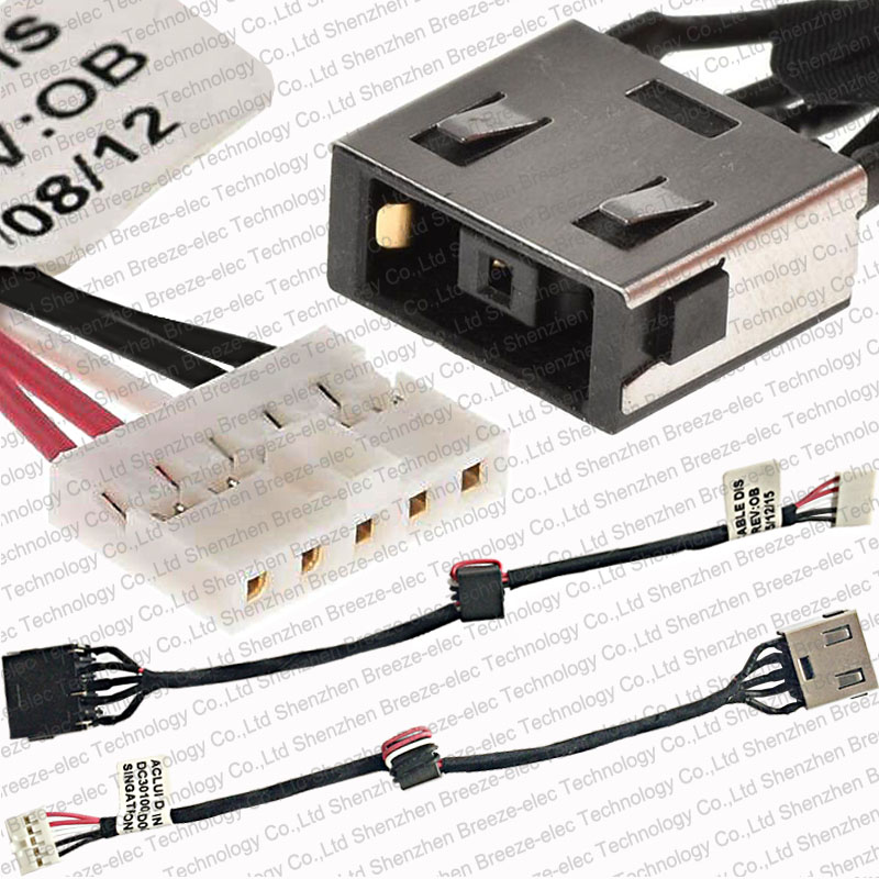 New Laptop AC DC Power Jack Plug in Socket Connector with Cable Harness for Lenovo IDEAPAD G40-30 G40-45 G40-70 G40-80 DC30100LG00