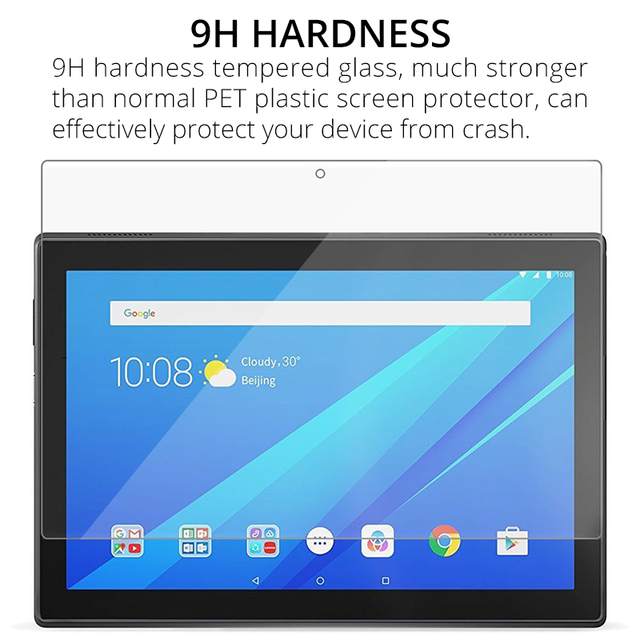 Tempered Glass Film Screen Protector for Lenovo Tab M10 TB-X605F E10 TB-X104F P10 TB-X705F 10.1 Tab 4 10 8 8504F 7.0 7504F E8 E7 1