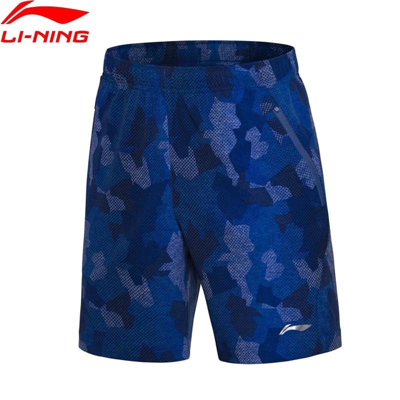 Li-Ning 2018 Для мужчин короткие Бадминтон Спортивное соревнование Шорты для женщин 91.1% полиэстер 8.9% спандекс Li Ning удобные Спортивные шорты aapn035