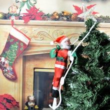 цены на Christmas Tree Decorations 30cm Santa Claus with Stair to giving gift Sint Nicolas New Years Xmas home decor  в интернет-магазинах