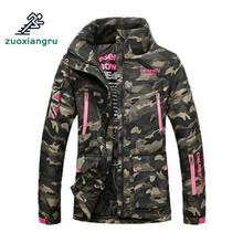 Zuoxiangru mujeres a prueba de viento impermeable esquí Camo chaquetas  invierno cálido nieve del deporte al aire libre esquí sen. 25dbdb3f4fb