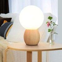 Modern Lampara Table Lamp Wood Bedroom Bedside Lighting Decorative Lights Children Round Table Lamps for Living Room 220V 110V