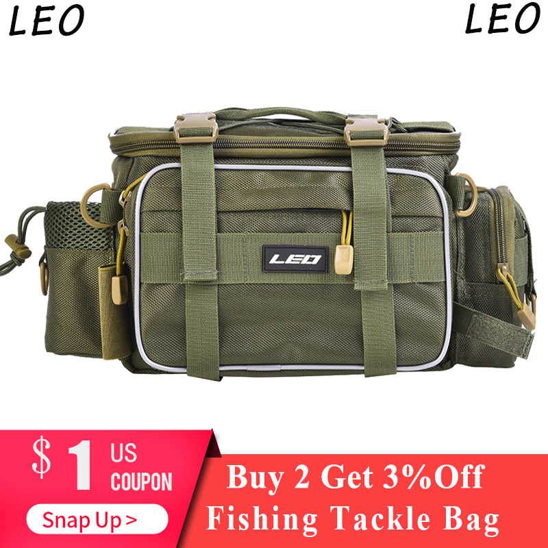 LEO Multifunctional Fishing Bags Tackle Outdoor Sports one Shoulder Crossbody Waist Pack Fishing Lures Gear Utility Storage Bag