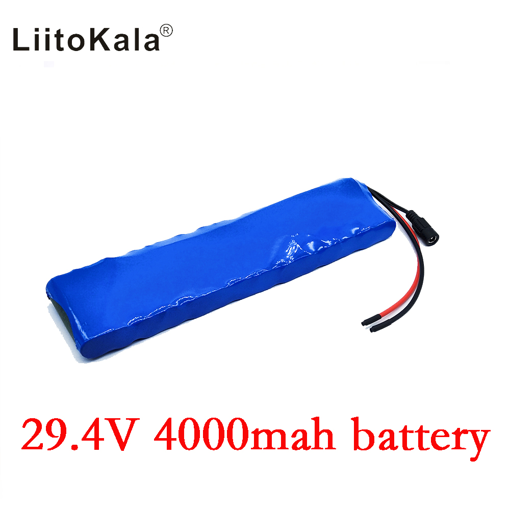 HK LiitoKala <font><b>24V</b></font> <font><b>4Ah</b></font> 7S2P 18650 <font><b>Battery</b></font> li-ion <font><b>battery</b></font> 29.4v 4000mah electric bicycle moped /electric no include the charger image