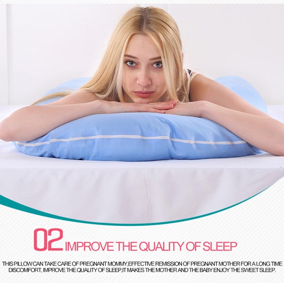 Bedding Pillows U Shape Pregnancy Pillow Full Body Maternity Pillow Comfort Sleeping Support Pillow For Pregnant Women Body _10_