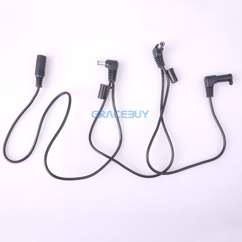 Effect Pedal Cable 3 Ways Cord Electrode Daisy Chain Harness Leads For Power Supply Adapter Splitter Fonte