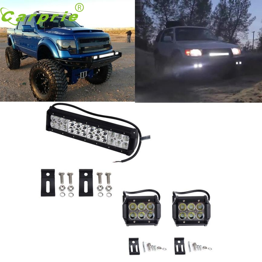 pretty 12 inch Led Work Light Bar Spot Flood + 2x 4 Pods For Offroad SUV or28 despicable me 2 battle pods loose 1 inch micro figure 36 blaster jerry [battle pods]