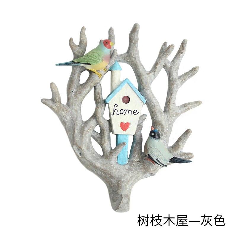 ROOGO home decorations branch hooks for hanging Rainforest style bag holder wall hook decorative for coat handbag key hanger