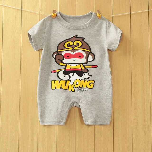 2019 New arrival Baby Rompers Cotton baby boy girl summer short sleeve costume penguin Jumpsuits Roupas Bebes Infant Clothing 2