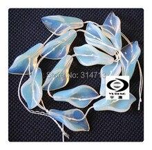 Envío gratis ( 13 unids/lote ) cuenta ópalo Natural mañana flor de la gloria de la joyería granos flojos de collar y pulsera, tamaño : 14 x 28 mm
