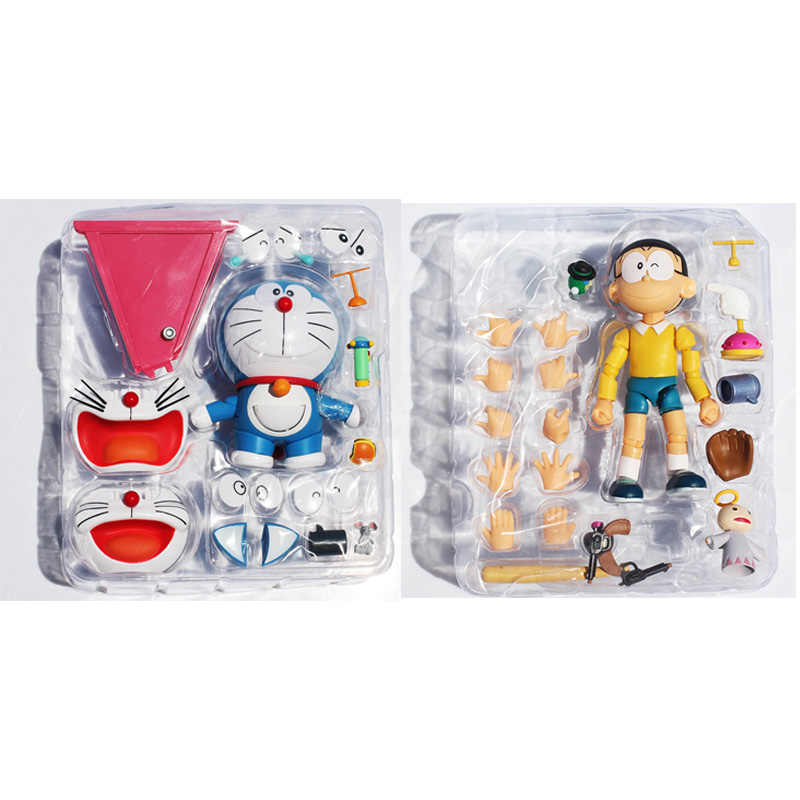 Cartoon Doraemon Nobita PVC Action Figure Toy Face Eye Changeable 10CM Approx Retail Free Shipping