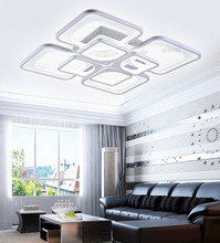 LED square acrylic chandelier lamp of the sitting room bedroom contemporary and contracted dining-room