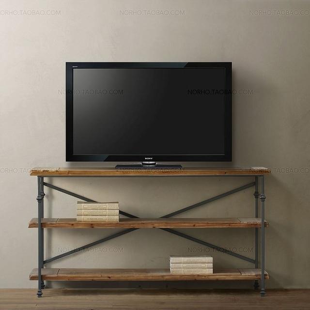 Nordic retro minería loft / madera reciclada, muebles de hierro ...