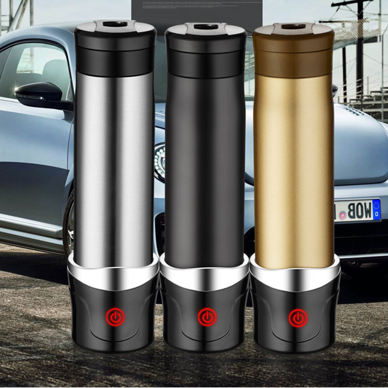 New fashion Car Electric Heating Cup Mug Cup Men hand Car heating 400ml Glass Black Gold Silver Calix Trophy Tumbler USB Gadgets customized crystal trophy engraved logo or words sports souvenirs grammy award glass champions rewards league cup