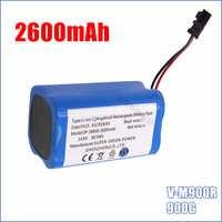 14.8 V 2600 mAh haute qualité offre spéciale Li-Ion remplacements batterie Rechargeable pour PUPPYOO V-M900R 900G robot nettoyeur