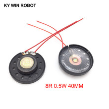 2pcs/lot New Ultra-thin Toy-car horn 8 ohms 0.5 watt 0.5W 8R speaker Diameter 40MM 4CM With Wire