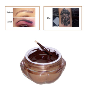 Image 1 - タトゥーインク 1 ピース深いコーヒーアートメイク顔料タトゥー顔料眉毛リップ Microblading