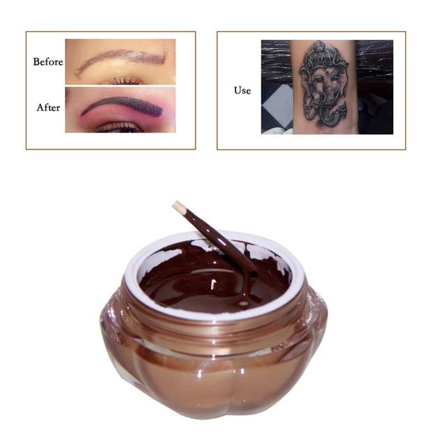 קעקוע דיו 1 יחידות עמוק קפה קבוע איפור פיגמנטים קעקוע פיגמנט לגבות שפתיים Microblading