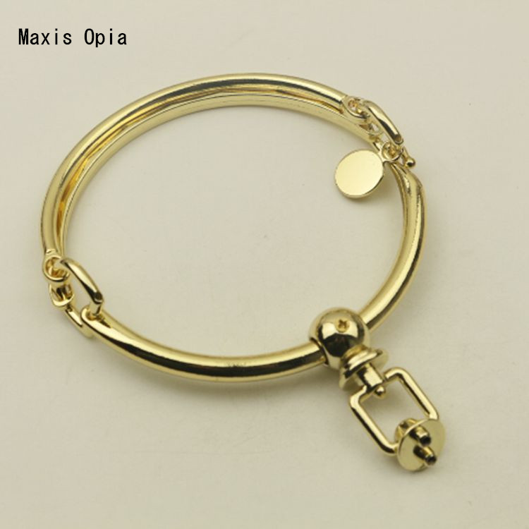 1 Pieces  Light Gold Bag Handle Bag Hardware Accessories Metal Handle Hook  Accessories DIY Bag Hanger Purse Frame Obag Handles