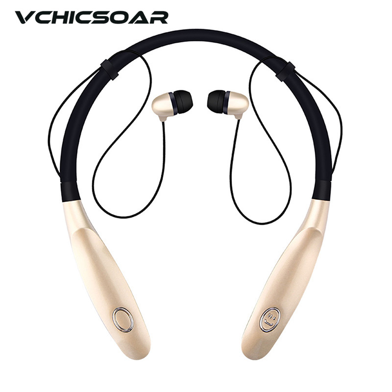 Vchicsoar Bluetooth Headphone Wireless Headset V4.2 Sports Earphones Stereo Noise Reduction Memory Neckband Headphones with Mic