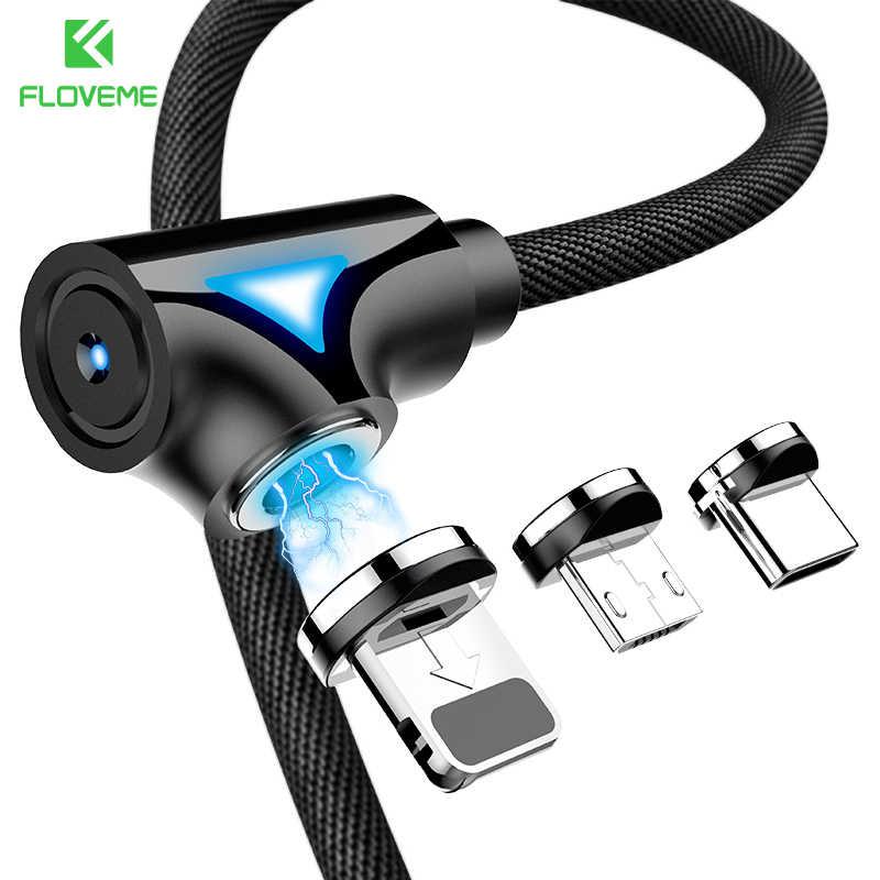 FLOVEME Magnetica Cavo di Ricarica Micro USB Tipo-C Magnet Cavi di Illuminazione per il iPhone Samsung Xiaomi Caricatore Cavi di Telefonia Mobile USB cavo