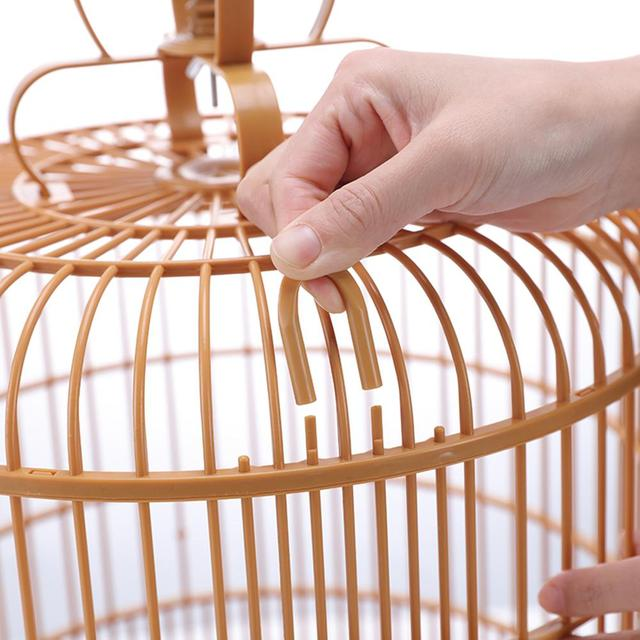 Bird Cage Breathable Travel Carrier Assembly Bird Cage With Feeder &Waterer Small Pet Bird Plastic Bird House Thrush Parrot Cage 5