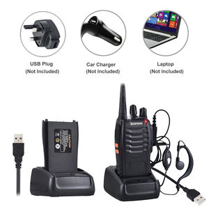 Image 2 - 4pcs/lot BAOFENG BF 888S Walkie Talkie Two Way Radio Baofeng 888s UHF 400 470MHz 16CH Long Range Portable Transceiver + Earpiece