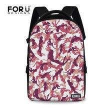 FORUDESIGNS женская путешествия рюкзак студенты мешок 3D печать камуфляж ноутбук рюкзаки для подростка моды дети фрукты рюкзак
