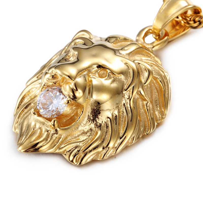 Iced out hip hop necklace 316l stainless steel lion head pendant iced out hip hop necklace 316l stainless steel lion head pendant necklace mouth inlaid crystal cz animal chain in pendant necklaces from jewelry aloadofball Image collections