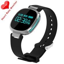 E08 Популярных Смарт-Браслет Мужчины Спортивные Часы Heart Rate Monitor Whatsapp Facebook сигнализации sms Для Android Телефон Pk Huwei часы