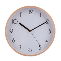 Homingdeco 12 Inches Large Simple Wall Clock Wood Brief Wooden Bedroom Livingroom Wall Clocks Home Decor White