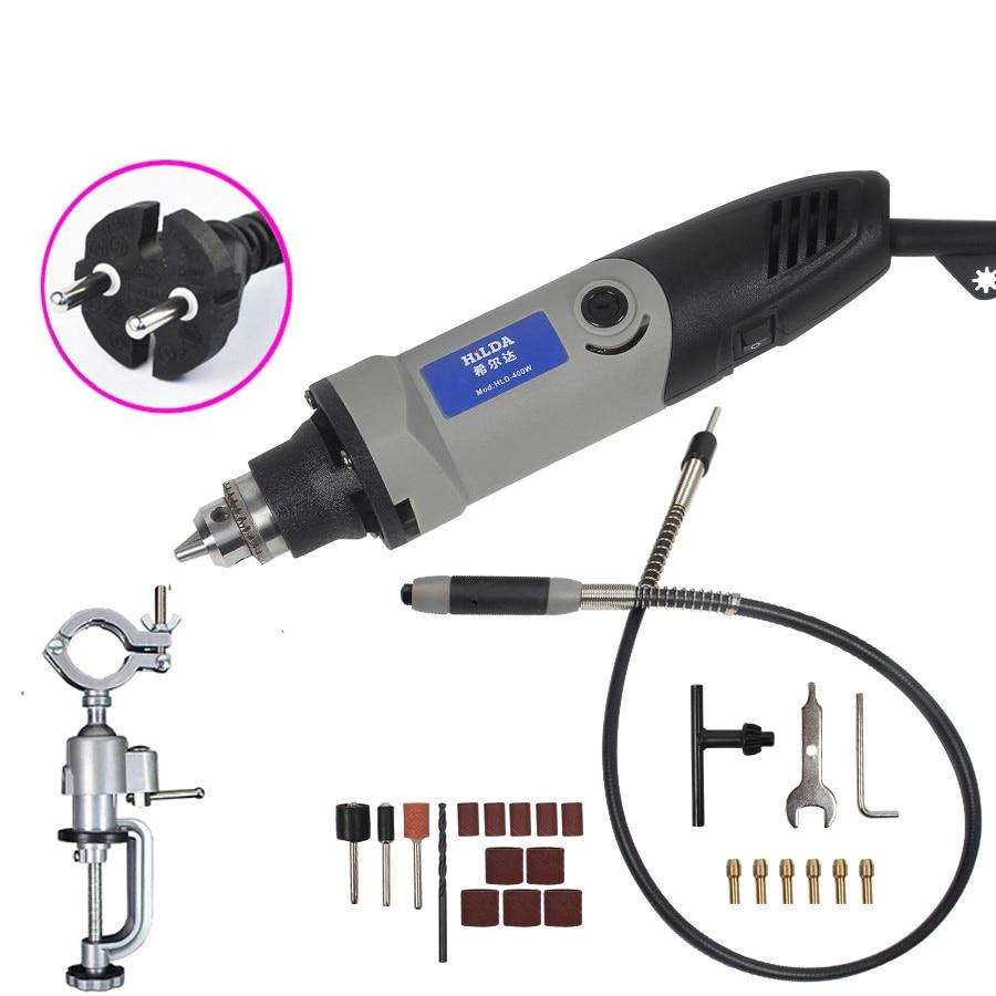 Meuleuse 400 W dremel Style électrique vitesse Variable pour Dremel outil rotatif Mini perceuse Mini meuleuse pour Dremel outils meulage