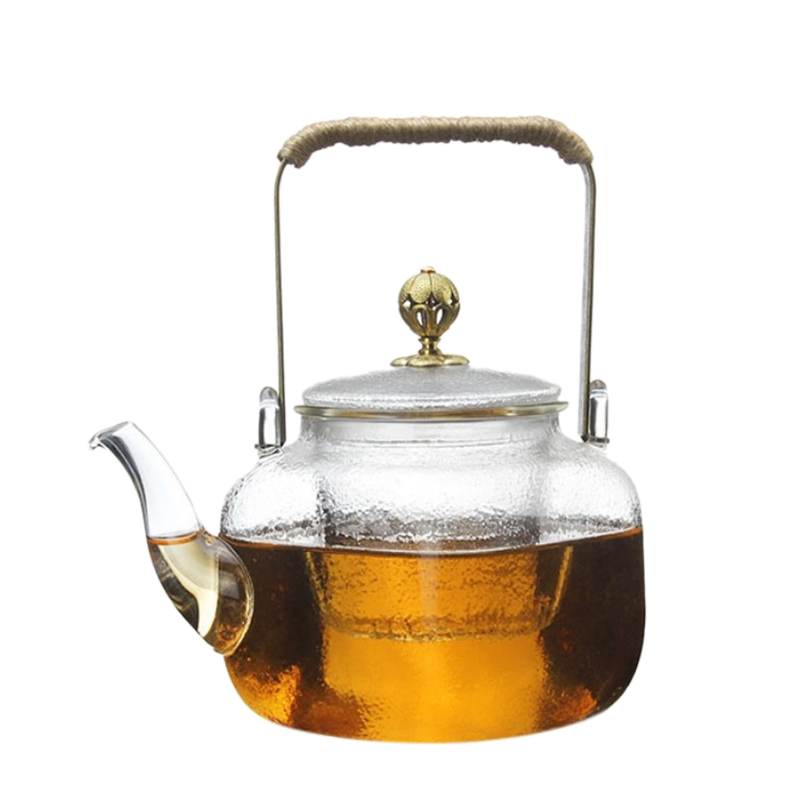Square Glass Teapot With Infuser 700 Ml Borosilicate Tea Pot For Loose Tea Clear