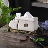 Европейский стиль керамика минималистичный лед треск коробка для салфеток Бытовая бумажная коробка гостиная журнальный столик коробки и а
