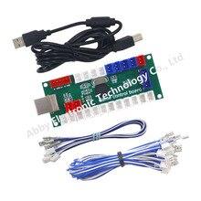цена на Arcade DIY Kit LED USB Encoder Board Zero Delay Arcade Controller Joystick Button Fight Stick Raspberry Pi Retro Pie MAME 5V LED
