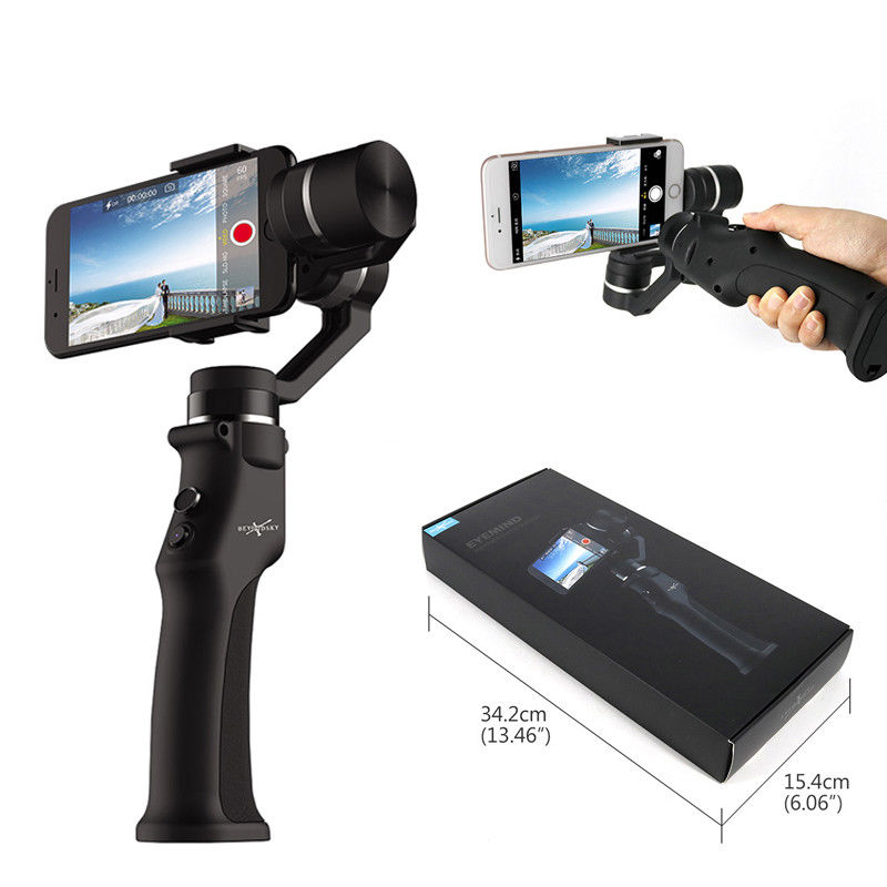 Eyemind Smartphone Handheld Gimbal 3-Axis Stabilizer for iPhone 8 X Xiaomi Samsung Action Camera VS Zhiyun Smooth Q x cam sight2 2 axis smartphone handheld stabilizer mobile phone brushless gimbal with bluetooth for iphone samsung xiaomi nexus