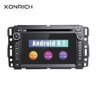 1Din Android 8,1 автомобильный dvd плеер gps радио для GMC Sierra Yukon chevrolet traverse Express Acadia Denali Savana Equinox Bluetooth
