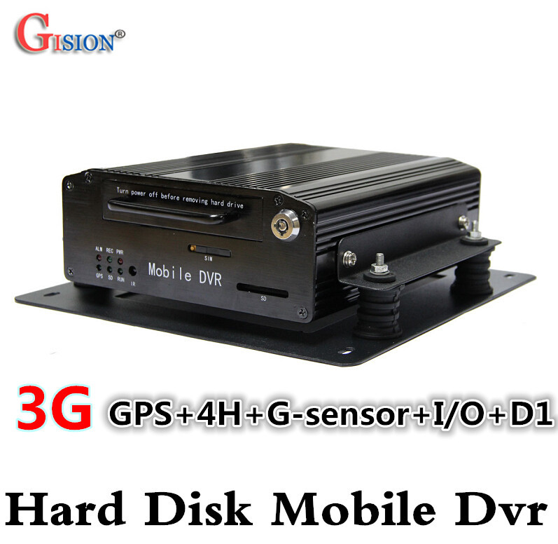 3G Mobile DVR H 264 4CH Real time GPS Track I O G sensor Vehicle DVR