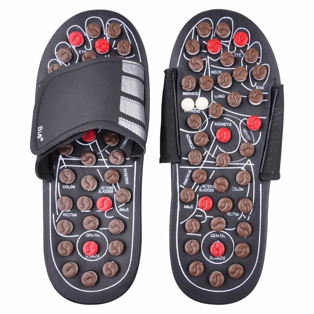 Foot Massage Slippers Health Shoe Sandal Massages Reflexology Feet Elderly Healthy Care Product Rest Pebble Stone Massager Shoes раскладушка therm a rest therm a rest luxurylite mesh xl